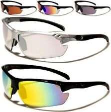 NEW X-LOOP SUNGLASSES MENS LADIES WOMENS BLACK SEMI-RIMLESS WRAP SPORTS UV400