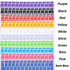 Fashion Rubbery Keyboard Cover Skin For Apple Macbook Mac Pro 13 15 17 Air 13 US