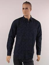 Gap Mens Shirt New Button Down Long Sleeve Classic Fit Two Pockets Paisley Blue