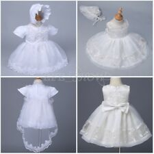 Gorgeous Embroidery Christening Dress Baby Girl Baptism Gown Toddler Dress 3-24M