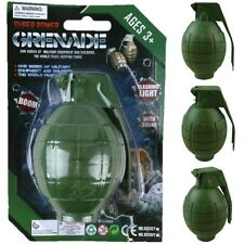 KIDS ARMY AMMO GRENADE TOY REALISTIC SOUNDS & LIGHT BOYS SOLDIER ROLE PLAY