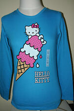 New HELLO KITTY Girl's Kid's T-SHIRT TEE Blue Old Navy Ice cream M L