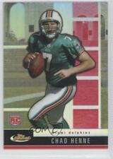 2008 Topps Finest #106 Rookie Refractors Chad Henne Miami Dolphins Football Card