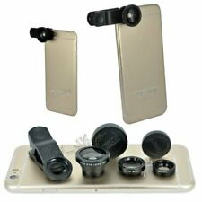 3 in1 Fish Eye Wide Angle Macro Telephoto Lens Camera Kit For iPhone