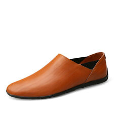 Mens Fashion Casual Genuine Leather Shoes Big Size Slip On Driving Outdoor Shoes