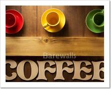 Cup Of Coffee And Letters On Wood Art Print/Canvas Print Home Decor Wall Art