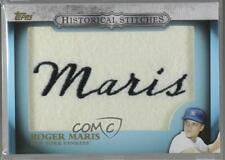 2012 Topps Manufactured Historical Stitches #HS-RM Roger Maris New York Yankees