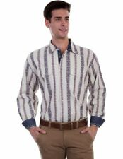 Scully Western Shirt Men L/S Dobby Stripe Snap Signature Series PS-219