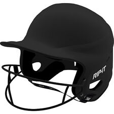 RIP-IT YOUTH VISION PRO MATTE SOFTBALL BATTING HELMET BLACK ADULT