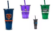 Color Inner Wall Straw Tumbler NFL Thirsty Football Fan Memorabilia Support Team