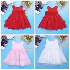 Baby Girl Christening Formal Dress Toddler 3D Flower Wedding Party Dress SZ3-24M
