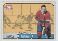 1968-69 O-Pee-Chee #166 Jean Beliveau Montreal Canadiens Hockey Card