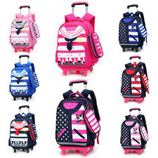 Boys Girls Kid Primary Children School Student Trolley Backpack With Pencil Bag