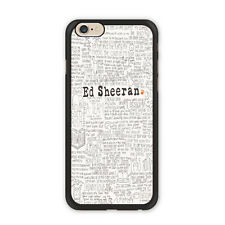 Ed Sheeran Music Fans Case For iPhone X 8 7 6 5 5c SE Galaxy S8 S7 S6 Edge Plus