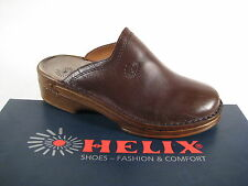 Helix Clogs Mules Mules Slippers Brown Leather Footbed Leather NEW