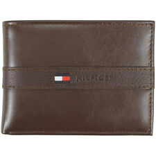 Tommy Hilfiger Men's Genuine Leather Two-Tone Passcase Billfold Wallet