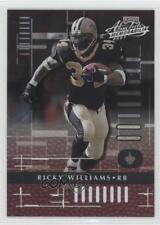 2001 Playoff Absolute Memorabilia #56 Ricky Williams New Orleans Saints Card