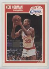 1989-90 Fleer #72 Ken Norman Los Angeles Clippers RC Rookie Basketball Card