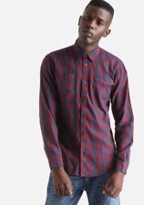 New Mens Jack and Jones Long Sleeve Slim Fit Checked Shirt Size Medium Large