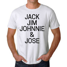 Jack Jim Johnnie And Jose Funny Men's White T-shirt NEW Sizes S-2XL
