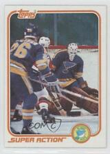 1981-82 Topps #128W Mike Liut St. Louis Blues Hockey Card