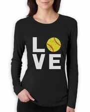 Love Softball - Gift for Softball Fans Women Long Sleeve T-Shirt Softball Player