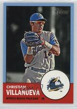 2012 Topps Heritage Minor League Edition Blue #181 Christian Villanueva Card