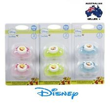 2 x Disney Winnie The Pooh Baby Infant Pacifier Soother Dummy Genuine RRP $14.99