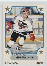 1991 7th Inning Sketch OHL #354 Michael Hartwick Guelph Storm (OHL) Hockey Card
