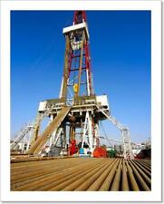 Drilling Rig With Drill Pipe - 1 Art Print/Canvas Print Home Decor Wall Art
