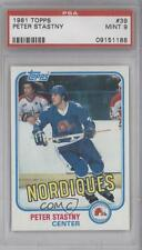 1981-82 Topps #39 Peter Stastny PSA 9 Quebec Nordiques RC Rookie Hockey Card
