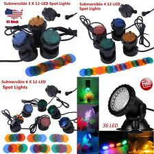 Submersible 1/3/4/6 12-LED Pond Spot Lights for underwater Pool fountain IP44 SE