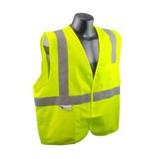 Safety Vest Yellow with Silver Reflective Stripes