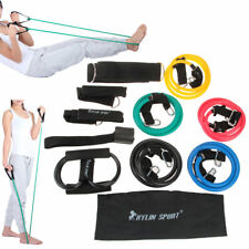 15 PCS Fitness Yoga Exercise Resistance Bands Set Gym Workout Stretch Heavy Duty