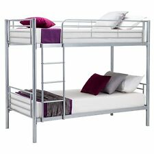New Bunk Beds Kids Frame Metal for Adult and Children Silver+ Special Mattress