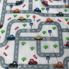 "Cars Beep Beep White printed poly cotton print fabric material 115cm 45"" wide HS"