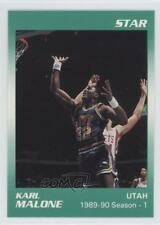 1990-91 Star #6 Karl Malone Utah Jazz Basketball Card