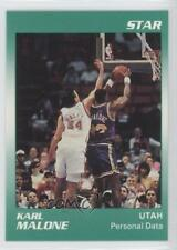 1990-91 Star #10 Karl Malone Utah Jazz Basketball Card