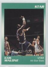 1990-91 Star #4 Karl Malone Utah Jazz Basketball Card