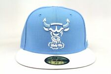 Chicago Bulls Trace University Blue White AJ VII NBA New Era 59Fifty Fitted Hat