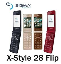 Sigma mobile X-Style 28 Flip Cell Phone Unlocked Free Sim Mobile Feature FM