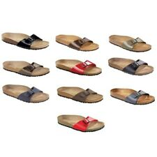 SALE Birkenstock Madird Sandals - Birko-Flor - red blue brown