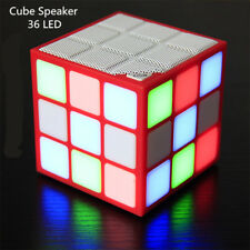 Bluetooth Speaker Mini HD Sound Box with Colorful 3D LED Flash light Cube Louder