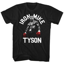 Mike Tyson Mens New Boxing T-Shirt RED IRON TYSON Black Cotton  Sizes SM - 5XL