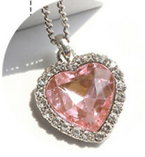 Crystal Pendant Necklace Titanic Heart Of The Ocean Necklace Valentines Gift H