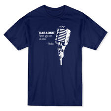 Karaoke Yes You Can Do That Vodka Funny Drink Alcohol Men's Navy T-shirt