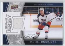 2013-14 Upper Deck Series One UD Game Jersey #GJ-BD Brandon Dubinsky Hockey Card
