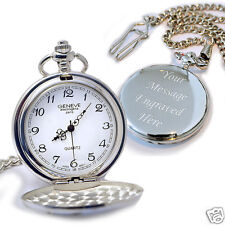 Personalised Gift for Him Pocket Watch for Bestman Usher Father Birthday Wedding
