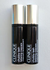 "2X Clinique Chubby Lash Fattening Mascara ""01 Jumbo Jet"" 0.14 Oz (4 ml) Each"