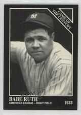 1993 The Sporting News Conlon Collection #663 Babe Ruth New York Yankees Card
